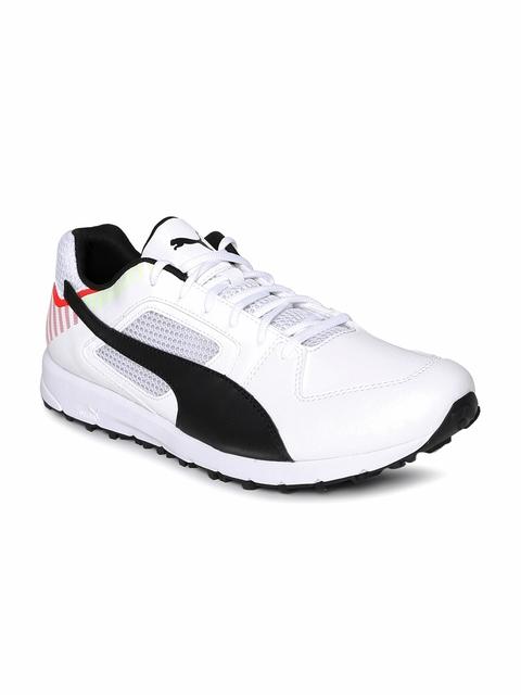 Puma Men White Team Rubber Cricket Shoes