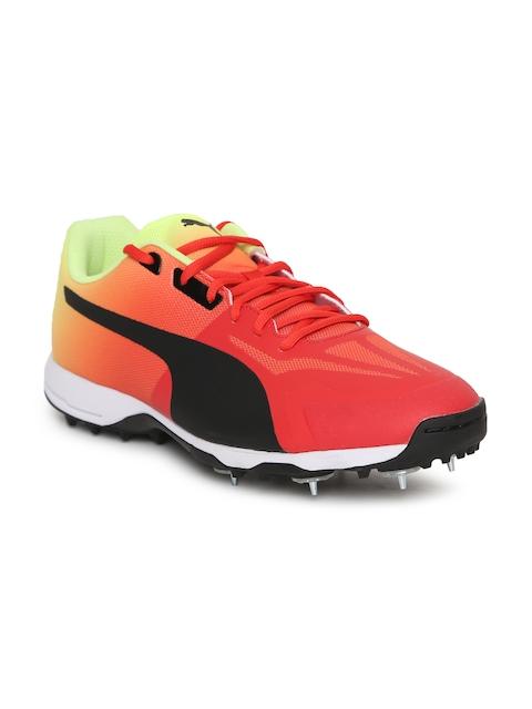 Puma Men Red EvoSPEED 18.1 Cricket Spike Fade Shoes
