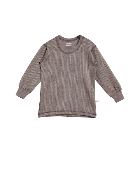VIMAL Girls Grey Thermal Top