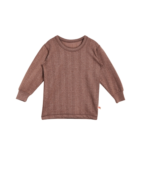 VIMAL Girls Brown Thermal Top