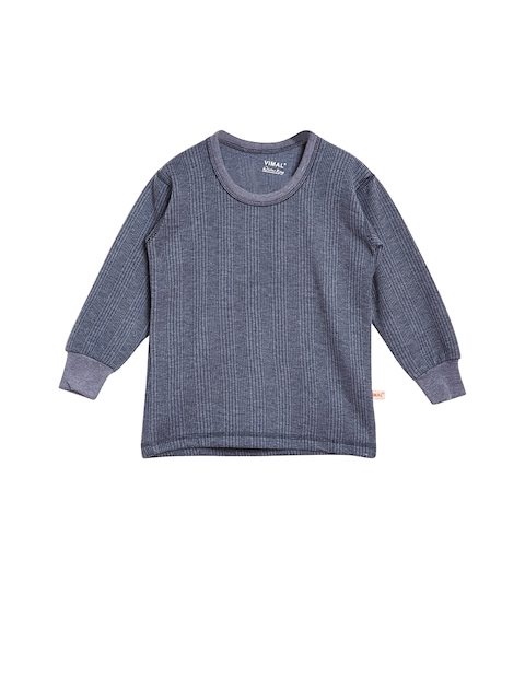 VIMAL Girls Navy Blue Thermal Top
