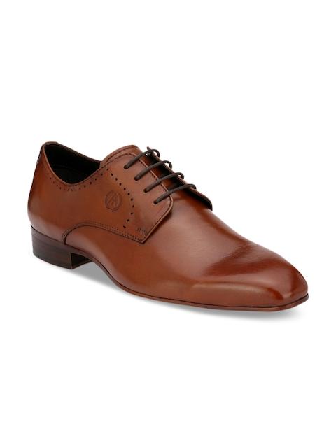 Alberto Torresi Men Tan Brown Leather Derbys
