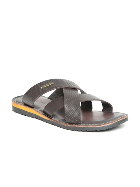 Woodland Men Brown Leather Comfort Sandals