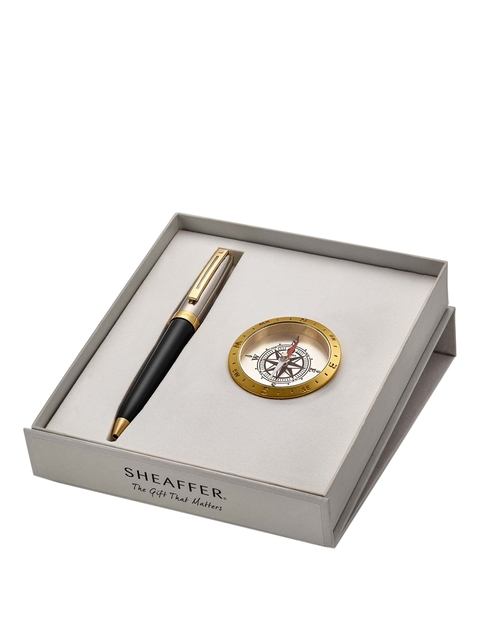 Sheafafter Black 337 Ballpoint Pen with Compass