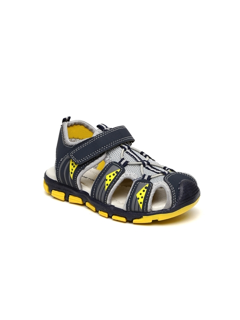 f6b027710a20e 20%off Fame Forever by Lifestyle Boys Navy   Yellow Fisherman Sandals