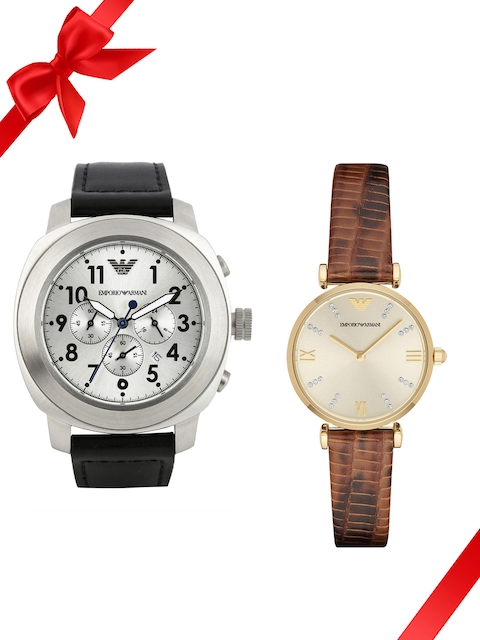 Emporio Armani Set of 2 His & Her Watches