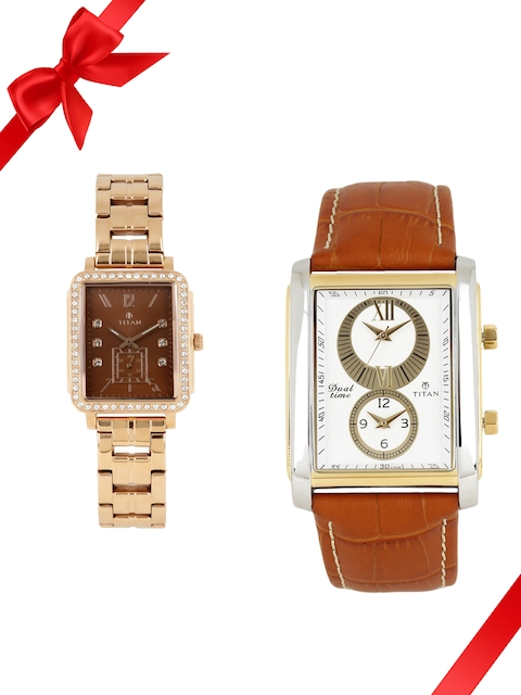 Titan Set of 2 His & Her Watches