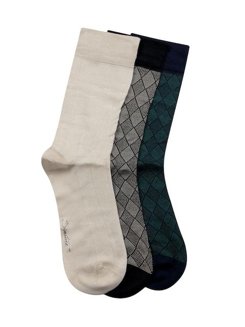 Bonjour Men Pack of 3 Assorted Calf-Length Socks