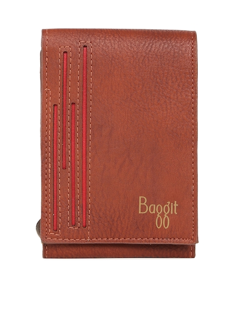 Baggit Men Brown Solid Two Fold Wallet