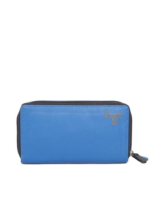 Baggit Women Blue Colourblocked Zip Around Wallet