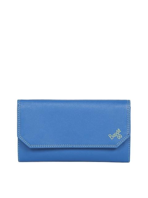 Baggit Women Blue Colourblocked Wallet