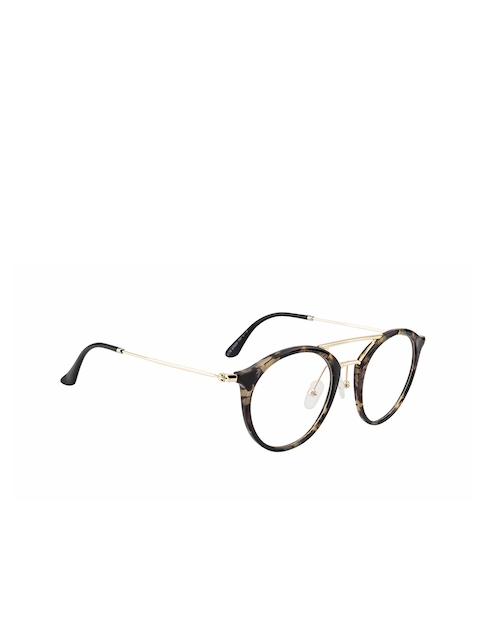 Ted Smith Unisex Brown Solid Full Rim Round Frames TS-TR-9176_C12