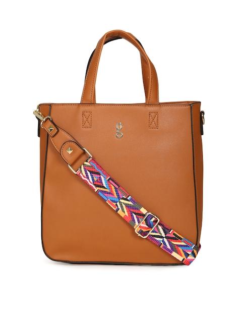Global Desi Tan Solid Shoulder Bag