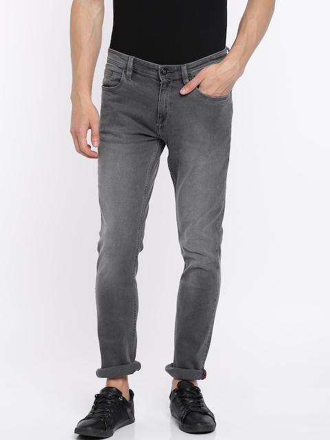 Arrow Blue Jean Co. Men Black Slim Fit Mid-Rise Clean Look Stretchable Jeans