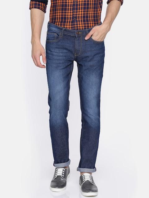 Arrow Blue Jean Co. Men Blue Slim Fit Mid-Rise Clean Look Stretchable Jeans