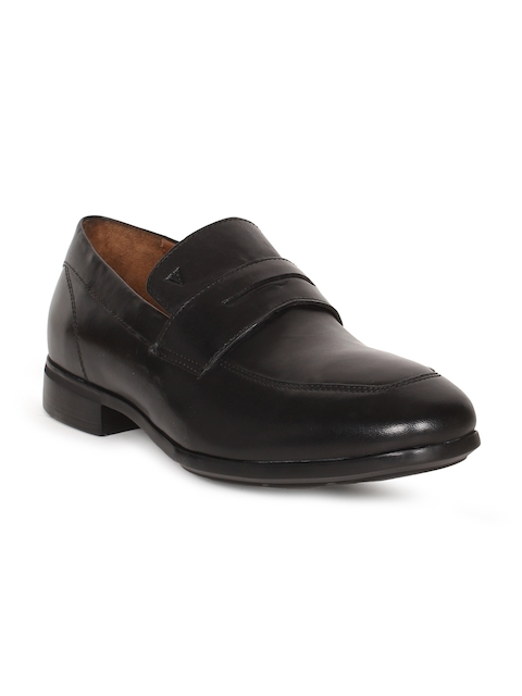 Van Heusen Men Black Leather Formal Shoes