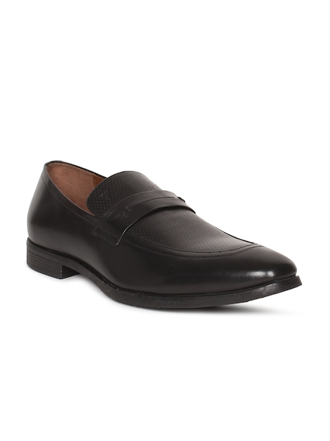 Van Heusen Men Black Semiformal Slip-On Shoes