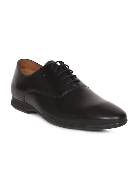 Van Heusen Men Black Leather Formal Oxfords Shoes