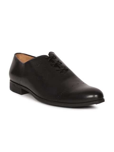 Van Heusen Men Black Formal Oxfords