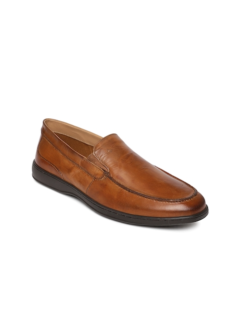 Arrow Men Tan Brown Carlin Slip-on Shoes