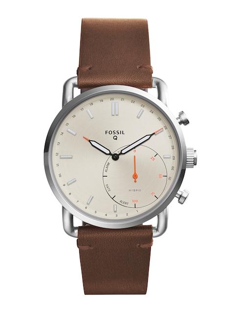 Fossil Men Brown & Beige Hybrid Smart Watch FTW1150
