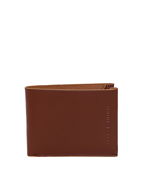 Tommy Hilfiger Men Brown Leather Two Fold Wallet