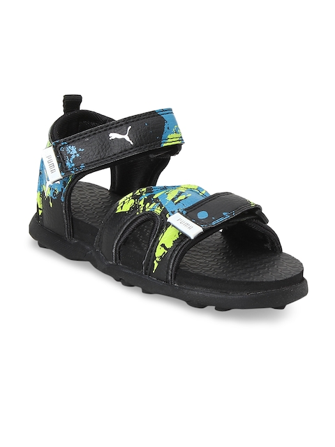 Puma Unisex Black Techno Cat GU PS IDP Comfort Sandals