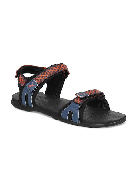 Puma Unisex Black & Blue Lyra IDP Comfort Sandals
