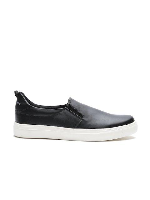 Jack & Jones Men Black Slip-Ons