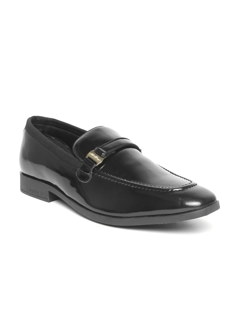 Blackberrys Men Black Patent Leather Semiformal Slip-Ons