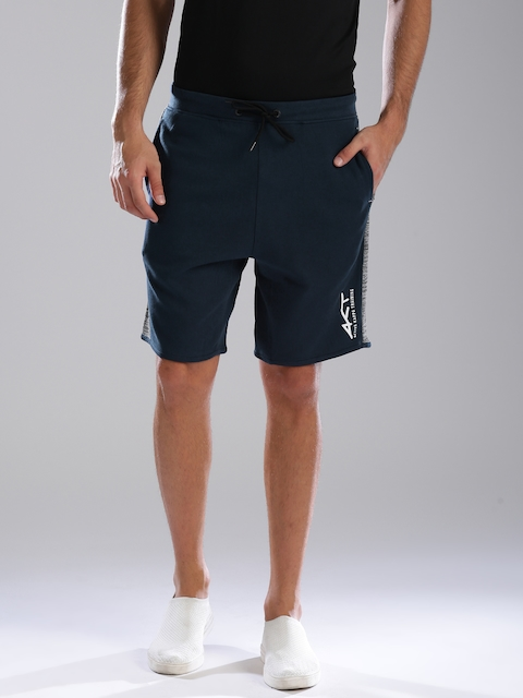 Kappa Men Blue Solid Regular Fit Sports Shorts With Quick Dry Technology