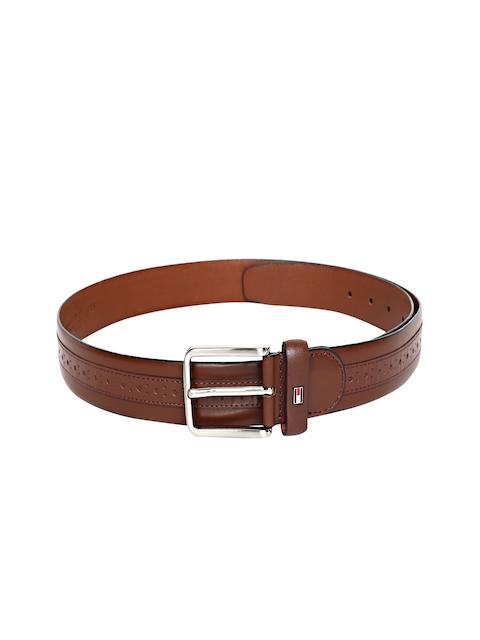Tommy Hilfiger Men Brown Leather Textured Belt