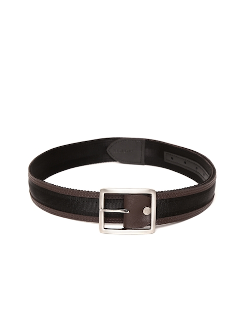 Tommy Hilfiger Men Black & Brown Solid Belt
