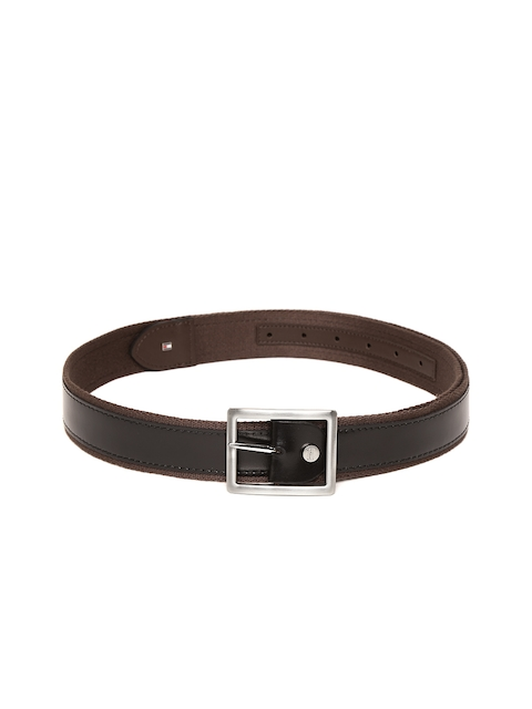 Tommy Hilfiger Men Black & Brown Leather Solid Reversible Belt