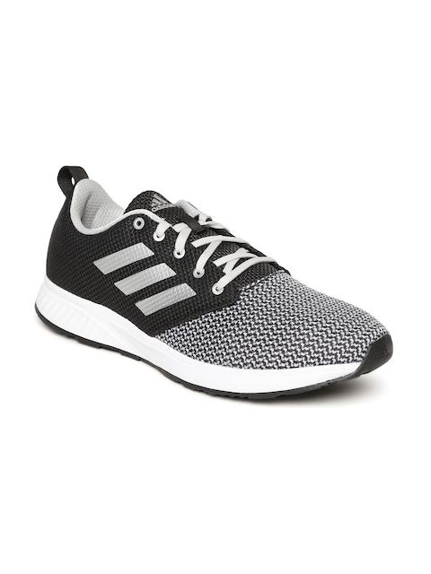 Adidas Men Black & Grey JEISE Patterned Running Shoes