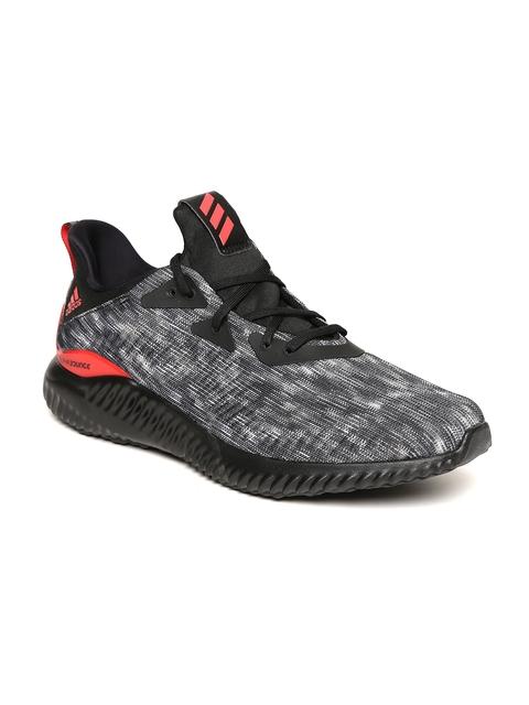 Adidas Men Grey & Black Alphabounce 1 CNY U Patterned Running Shoes