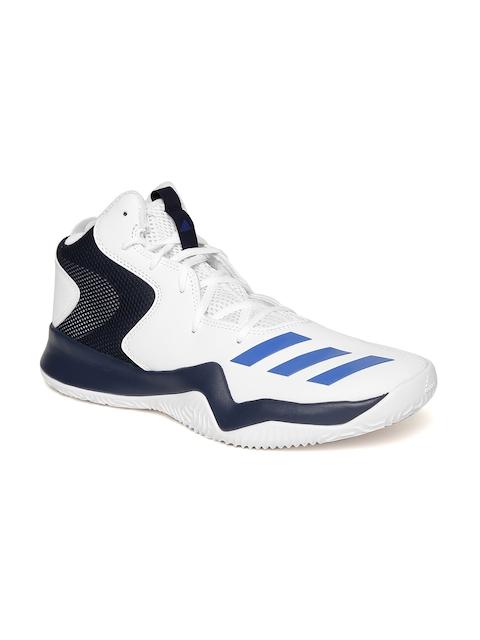 ADIDAS Men White Crazy Team II Basketball Shoes