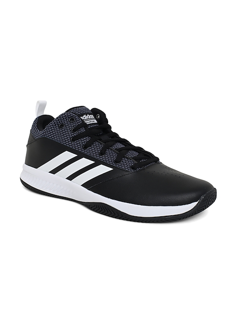 Adidas Men Black ILATION 2.0 4E Leather Basketball Shoes
