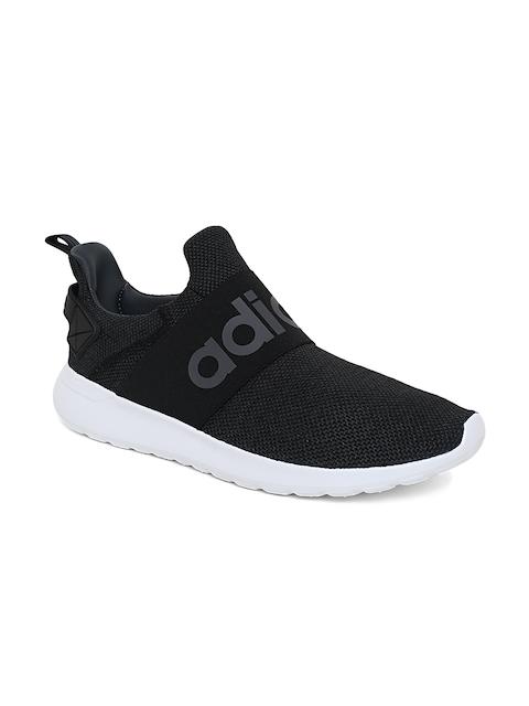 Adidas Men Black & Grey Lite Racer Adapt Running Shoes