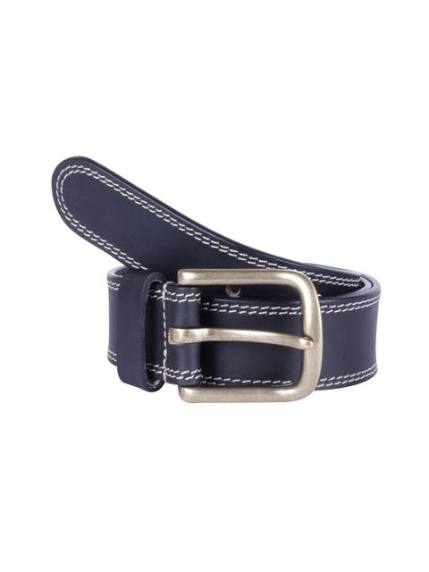 Kara Men Black Solid Leather Belt
