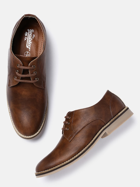 Roadster Men Tan Brown Derby Shoes