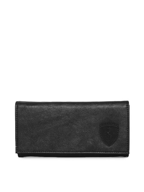 Puma Women Black Solid SF LS Two Fold Wallet