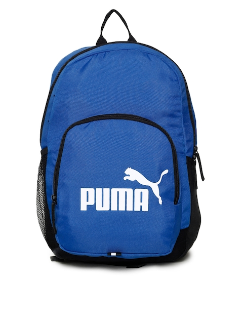 Puma Unisex Blue Phase IND Brand Logo Backpack