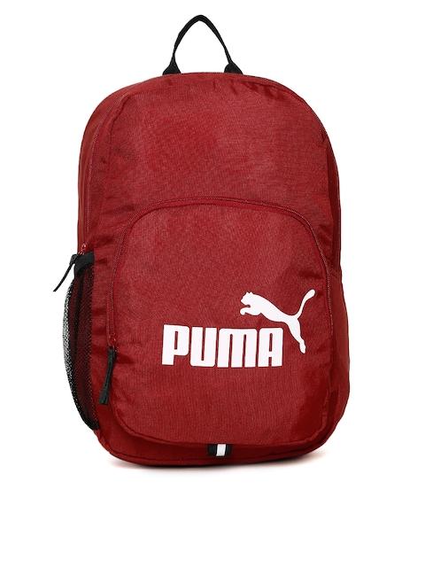 Puma Unisex Red Phase IND Brand Logo Backpack