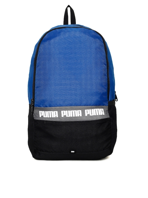 Puma Unisex Blue & Black Phase II IND Colourblocked Backpack