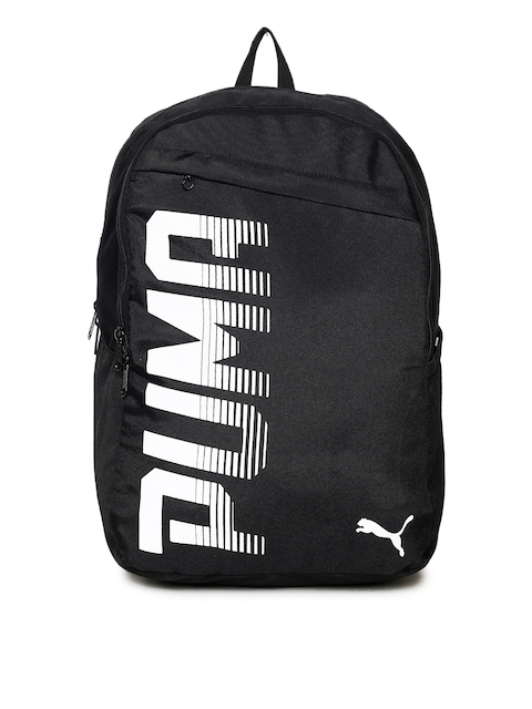 Puma Unisex Black Pioneer I IND Brand Logo Backpack