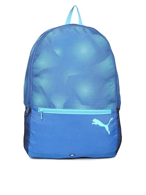 Puma Unisex Blue Printed Alpha IND Backpack
