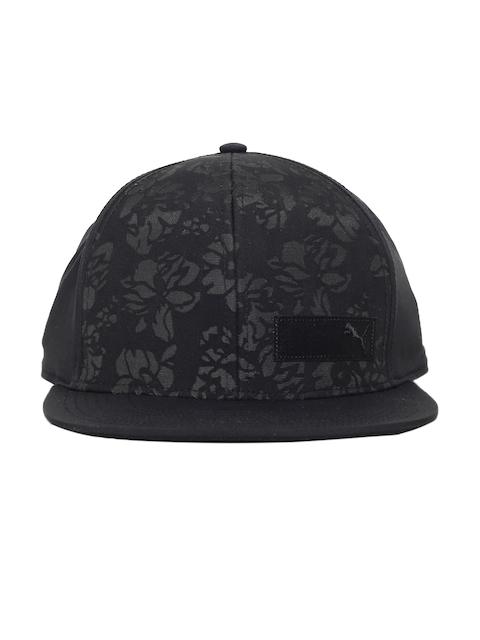 Puma Women Black Printed Floral WM FB Baseball Cap