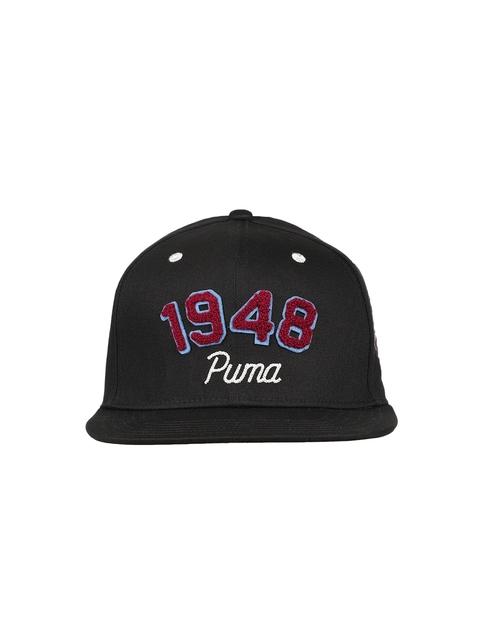 Puma Women Black Solid Baseball Cap