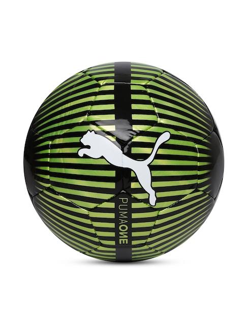 Puma Unisex Black & Green One Chrome Football